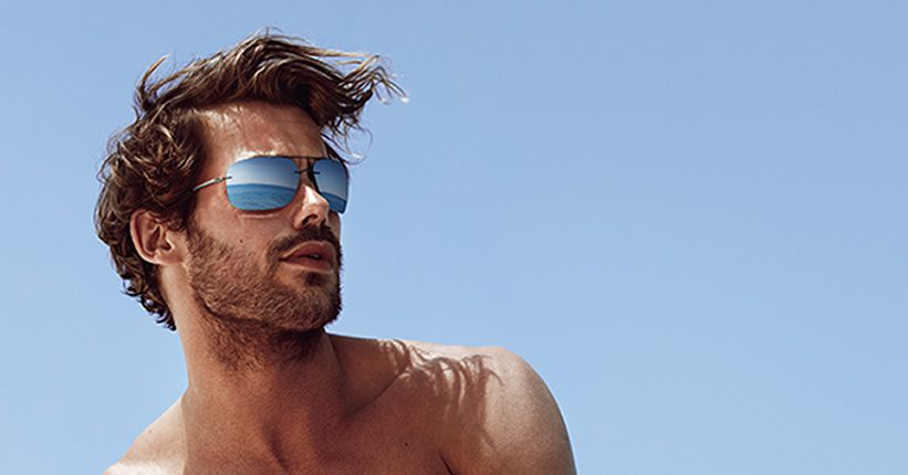 Male model with Style Shades