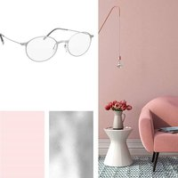 Color of the month: Warm rose tones meet cool silver metallic.