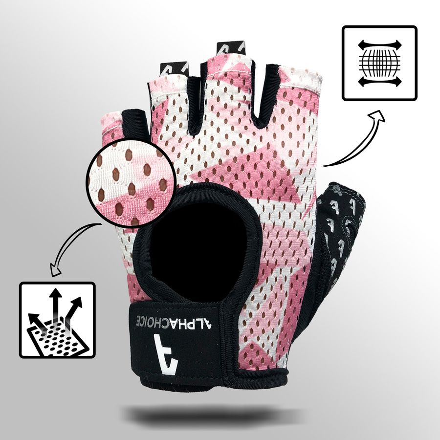 Alphachoice Slim-Fit Gloves Rosé-Camouflage - Featured Image