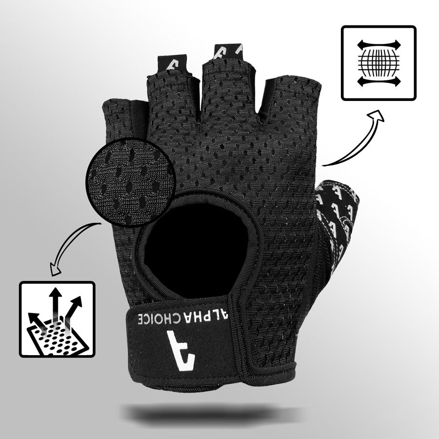 Alphachoice Slim-Fit Gloves Black - Featured Image