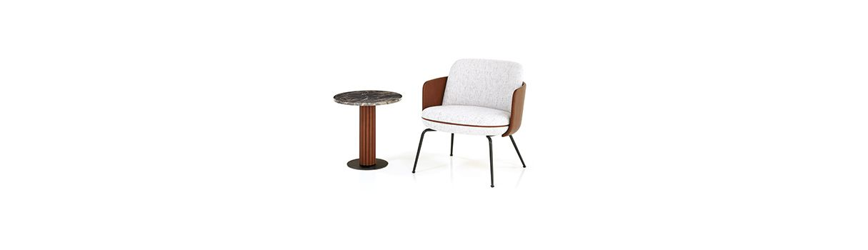 Merwyn Lounge Chair und Miles Side Table © Wittmann