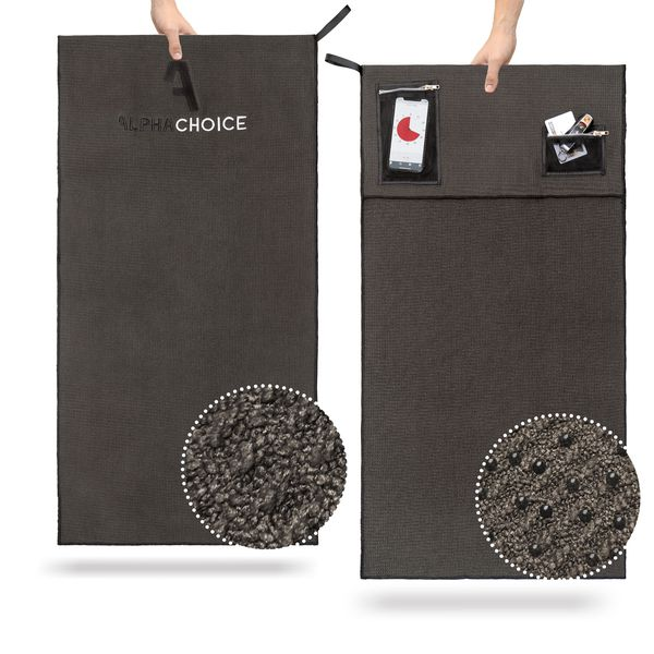 Alphachoice Fitness Towel Dark - Featured Image