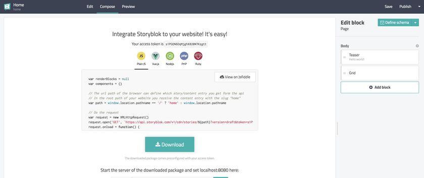 How to build a slider content structure? - Storyblok