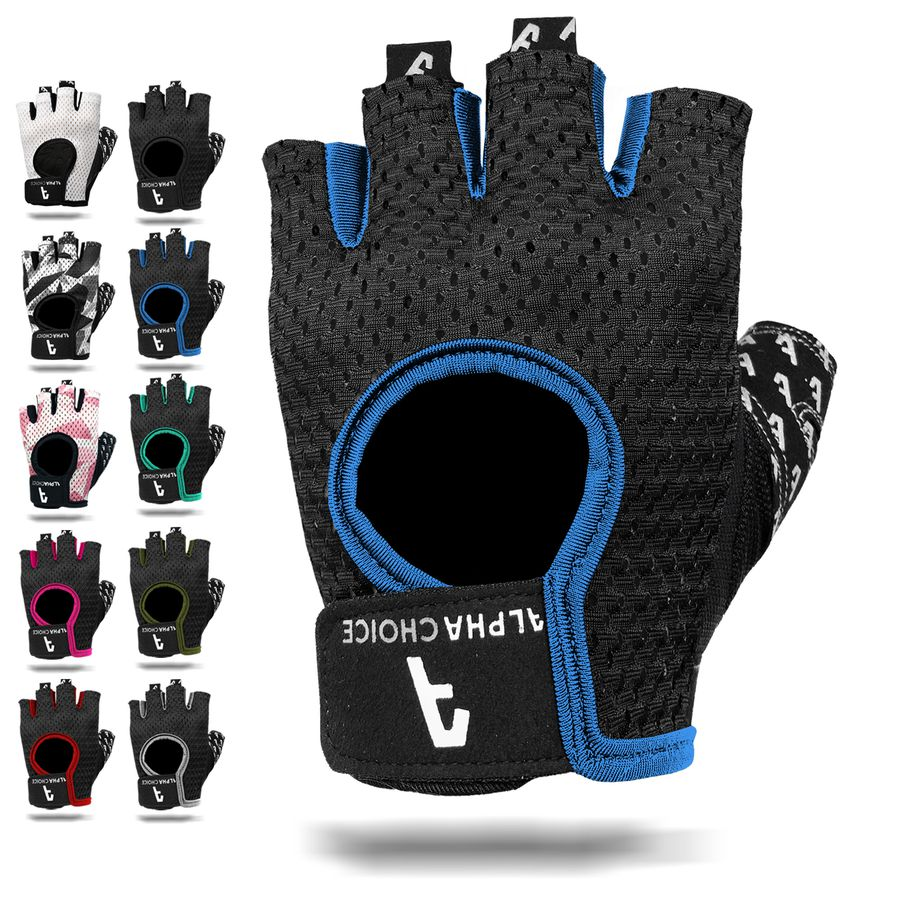 Alphachoice Slim-Fit Gloves Blue - Featured Image