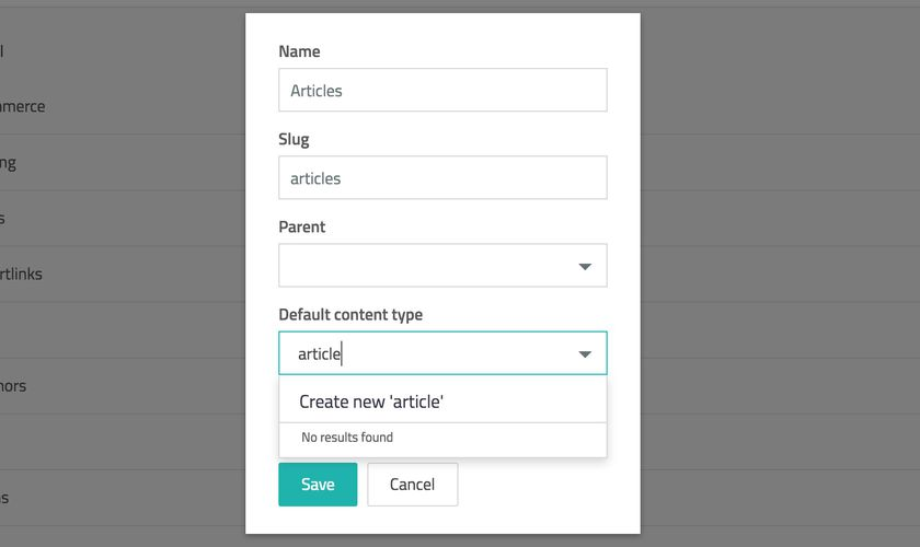 Create new content type