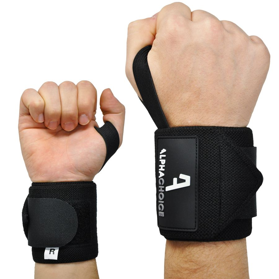 Alphachoice Handgelenksstützen Solid Wraps Black - Featured Image
