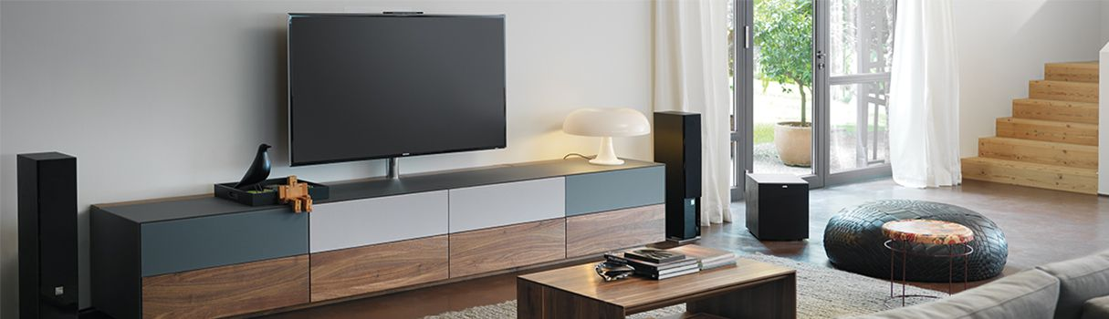 cubus pure Home Entertainment: perfect solutions for all your home entertainment electronics needs. © TEAM 7