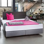 Box spring bed GL 300P with PISA Headboard