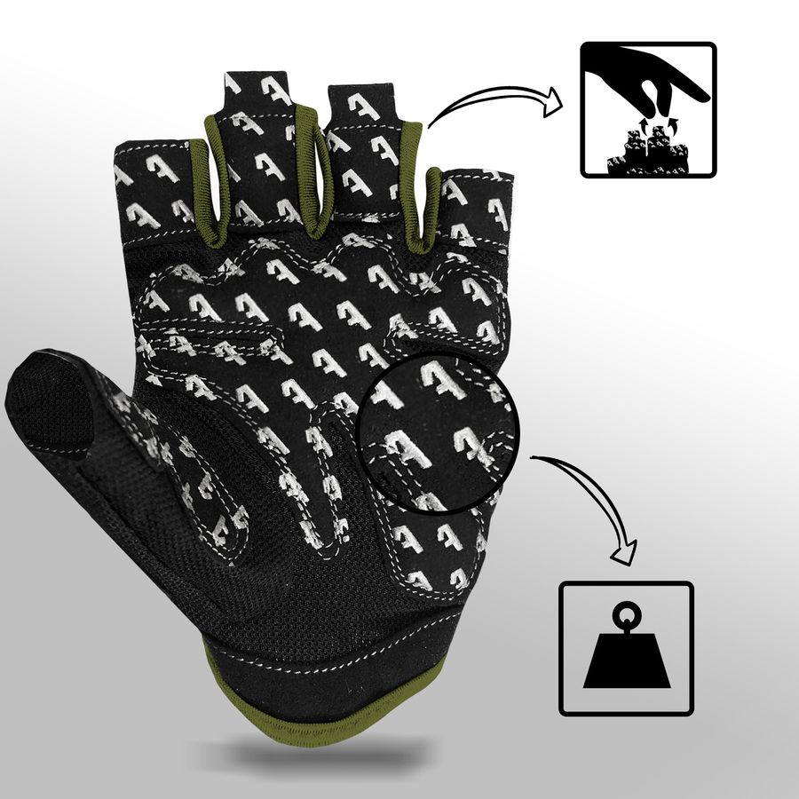 Alphachoice Slim-Fit Gloves Green - Featured Image
