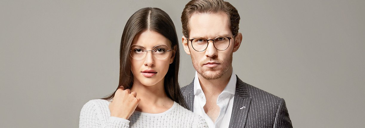Models with eyewear
