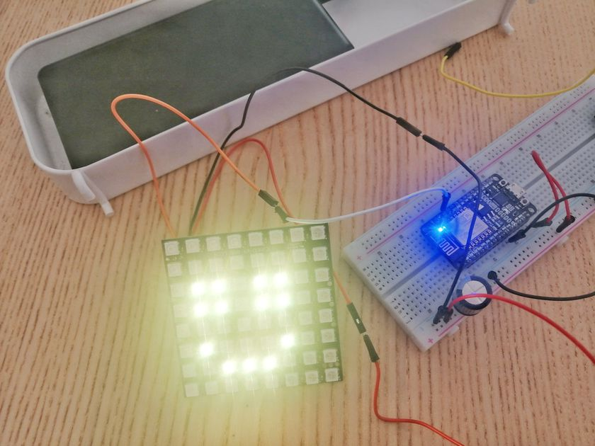 LED prototype breadboard