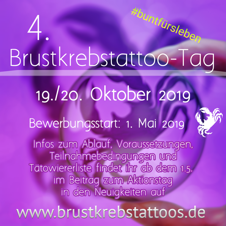 Brustkrebstattoo-Tag 2019, 19./20. Oktober