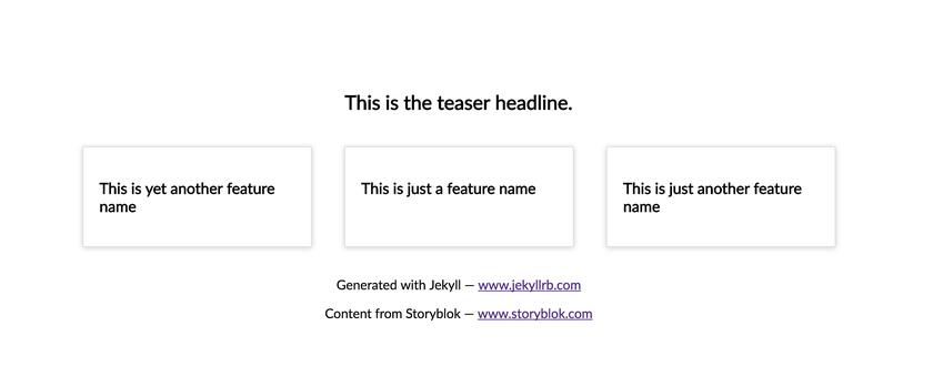Headless CMS for Jekyll - Storyblok